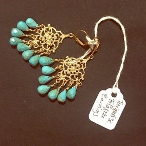Jewelry - Turquoise Filigree Earrings